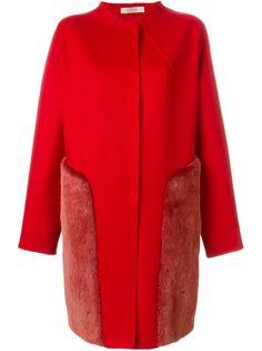 платье с меховыми карманами  Liska