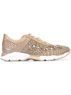 кроссовки с украшением из кристаллов Swarovski René Caovilla