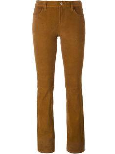 расклешенные замшевые брюки J Brand