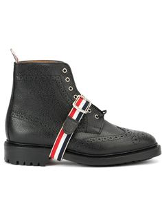 ботинки с контрастным ремешком  Thom Browne