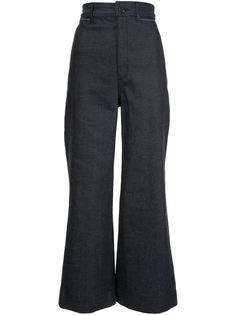 укороченные расклешенные джинсы  Proenza Schouler