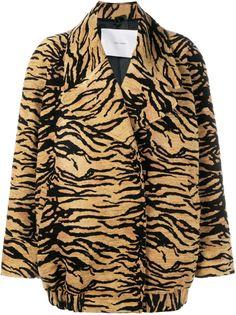 куртка с тигровым принтом Adam Lippes