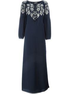 декорированное платье-кафтан Lisette  Tory Burch