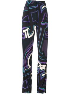 брюки с графическим принтом Emilio Pucci