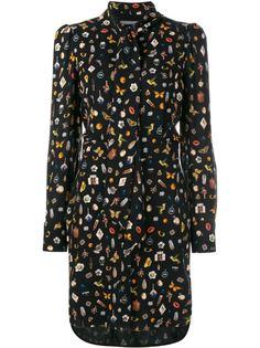 платье со сплошным принтом  Alexander McQueen