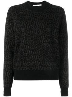 свитер с узором из звезд и логотипов Givenchy