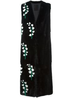 пальто с цветочным узором без рукавов Liska