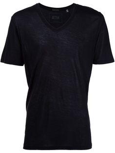 трикотажная футболка с V-образным вырезом  Atm Anthony Thomas Melillo