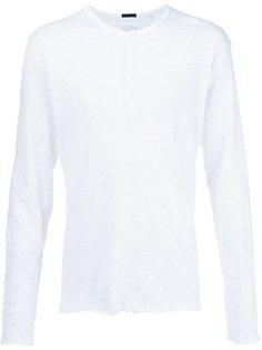 мешковатая футболка с вырезом-хенли  Atm Anthony Thomas Melillo