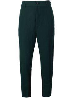 брюки с ребристыми панелями Ann Demeulemeester