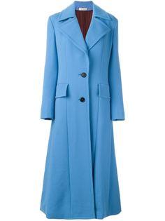 длинное однобортное пальто Marni