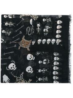 платок с узором Obsession Alexander McQueen