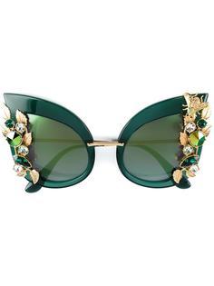 солнцезащитные очки с украшением в виде кристаллов Swarovski Dolce & Gabbana Eyewear