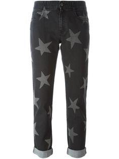 джинсы с принтом звезд  Stella McCartney