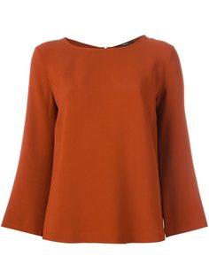 блузка с расклешенными рукавами  Odeeh