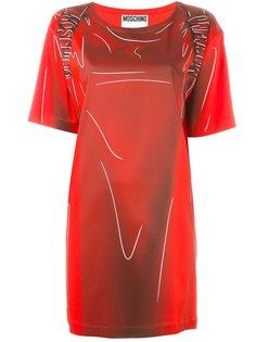 """платье с принтом в стиле """"тромплей"""" Moschino"""