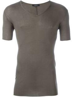 футболка с V-образным вырезом в рубчик Unconditional