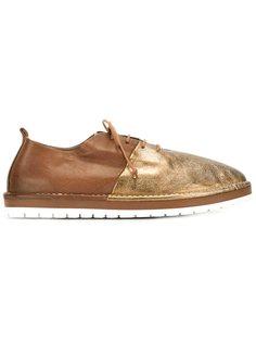 двухцветные туфли на шнуровке Marsèll