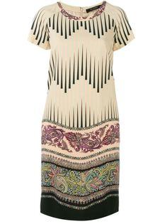 платье-шифт с комбинированным принтом Etro