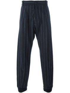брюки в полоску с манжетами Giorgio Armani