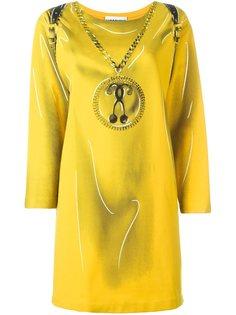платье с принтом рюкзака Moschino