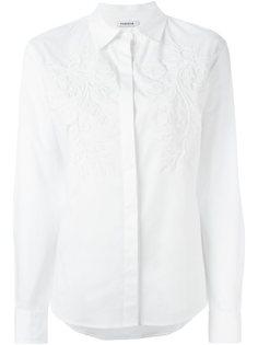 рубашка с цветочной вышивкой P.A.R.O.S.H.
