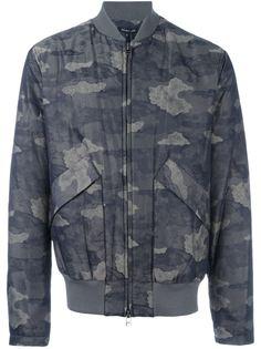 куртка-бомбер с камуфляжным принтом  Helmut Lang
