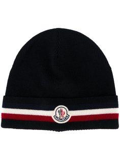 шапка с полосатой окантовкой Moncler
