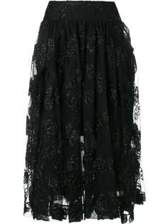 жаккардовая юбка миди из тюля Simone Rocha