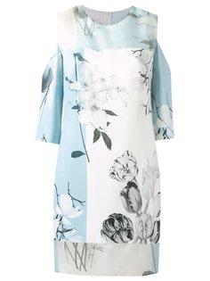 платье с узором и вырезными деталями Gloria Coelho