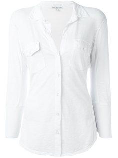 рубашка с рукавами три четверти  James Perse