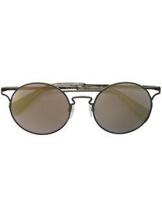 солнцезащитные очки с вырезными деталями Yohji Yamamoto
