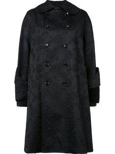 жаккардовое двубортное пальто  Comme Des Garçons