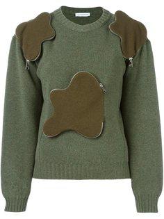 свитер с объемными карманами на молнии JW Anderson