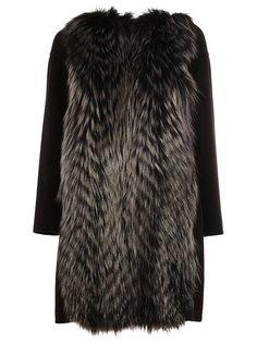 пальто с меховой вставкой  Fendi