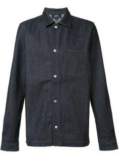 джинсовая рубашка на кнопках A.P.C.