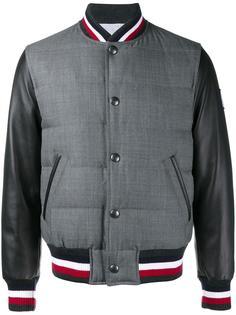 пуховая университетская куртка Moncler Gamme Bleu