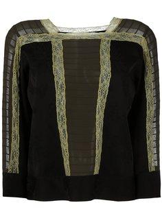 блузка с кружевной отделкой Etro