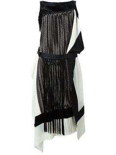 платье с бахромой и поясом Antonio Marras