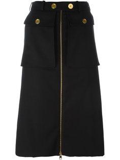 юбка А-образного силуэта  Alexander McQueen