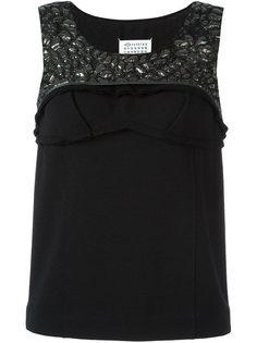 текстурированная блузка без рукавов Maison Margiela