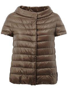 дутая куртка с воротником-лодочкой Herno