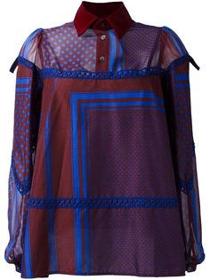 блузка с узором  Sacai