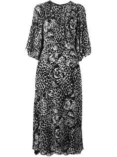 платье с леопардовым принтом Saint Laurent