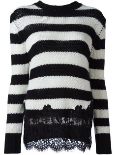 свитер с кружевной аппликацией Ermanno Scervino