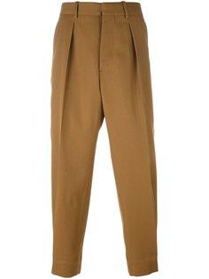 брюки со складкой спереди Marni