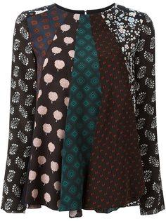 блузка в стиле пэчворк  Lanvin