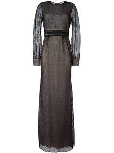 вечернее платье в сетку Emanuel Ungaro