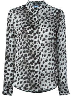 рубашка с леопардовым принтом Blumarine