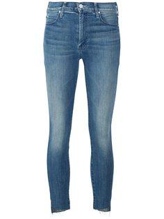 джинсы кроя скинни  с необработанными краями   Mother